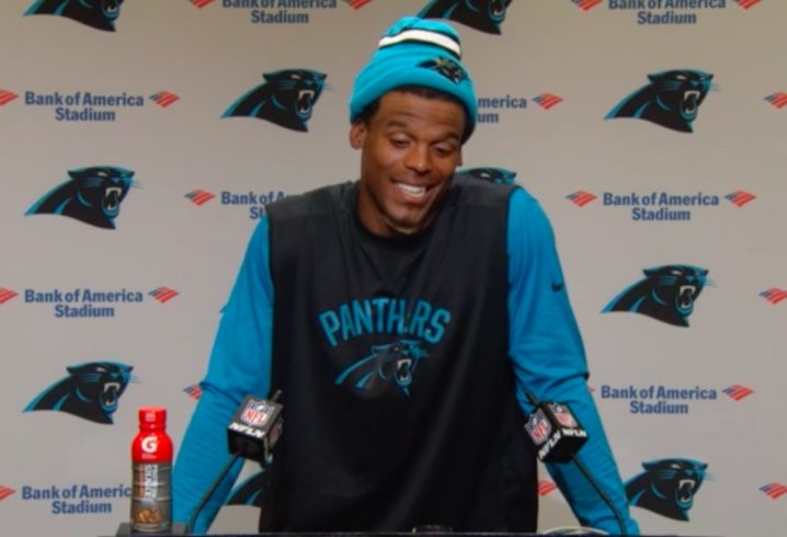 CAM NEWTON THE CENTER OF CONTROVERSY AFTER COMMENTS TO FEMALEREPORTER