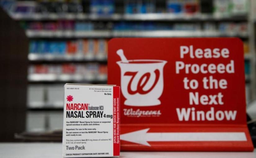WALGREENS TO BEGIN SELLING NALOXONE. A DRUG THAT CAN REVERSE OPIODOVERDOSES