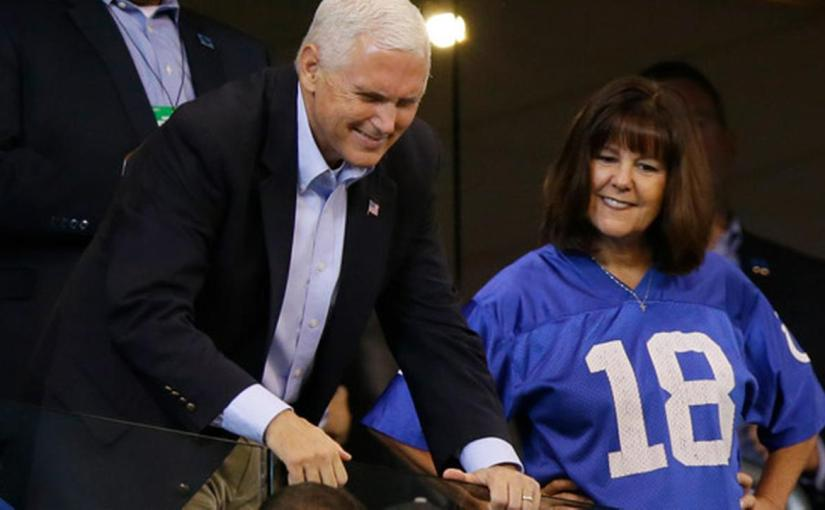 "PROFESSIONAL ""ATTENTION SEEKER"" MIKE PENCE WALKS OUT OF FOOTBALL GAME"
