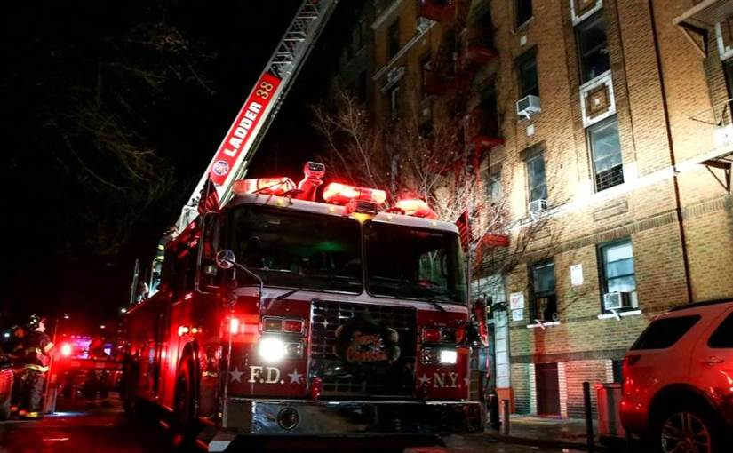 APARTMENT FIRE KILLS 12 PEOPLE IN THE BRONX, NY