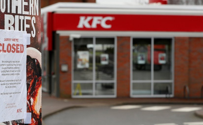 KFC CLOSES MULTIPLE LOCATIONS IN THE UK DUE TO CHICKEN SHORTAGE