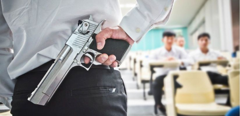 TEACHERS ACCIDENTALLY FIRES A GUN AND INJURES STUDENT DURING SAFETYLESSON