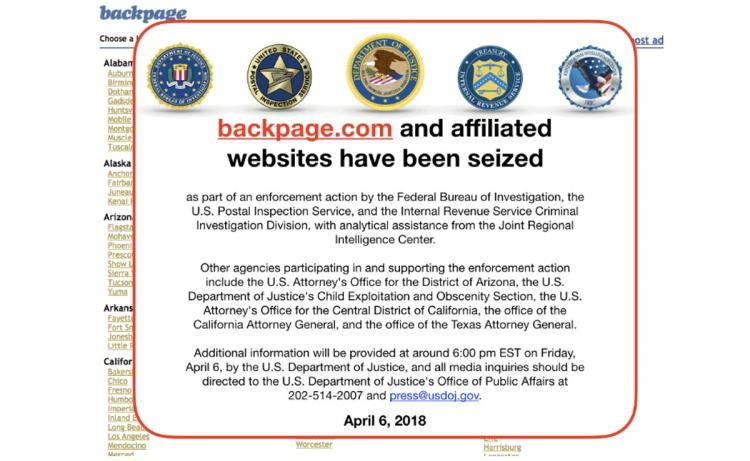 """BAD NEWS FOR THE """"MONEY FOR SEX"""" BUSINESS. THE FEDS JUST SHUT DOWNBACKPAGE"""
