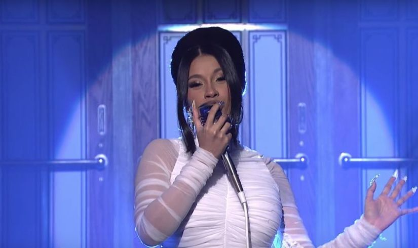 CARDI B. PERFORMS BE CAREFUL ON SATURDAY NIGHT LIVE. REVEALS BABY BUMP(VIDEO)