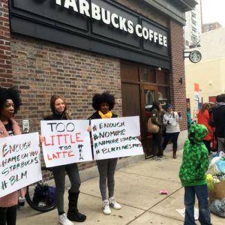 starbucks protest