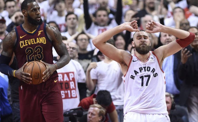 CAVS BEAT RAPTORS IN OT. TAKE 1-0 LEAD IN 2ND ROUND SERIES