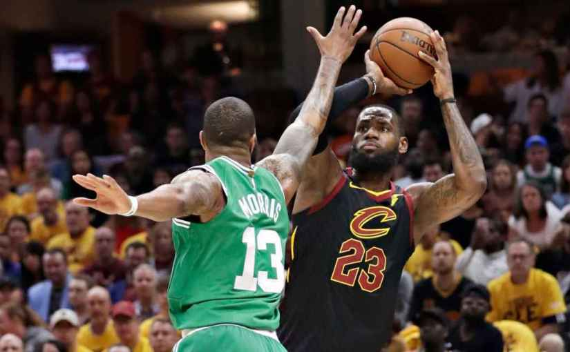 CAVS TAKE GAME 4 AT HOME. CONFERENCE FINALS NOW TIED AT TWO GAMES APIECE(VIDEO)