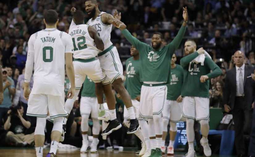CELTICS COME BACK AND WIN GAME-2 OF EASTERN CONFRENCE FINALS. TAKE COMMANDING 2-0 LEAD TO CLEVELAND FOR GAME-3
