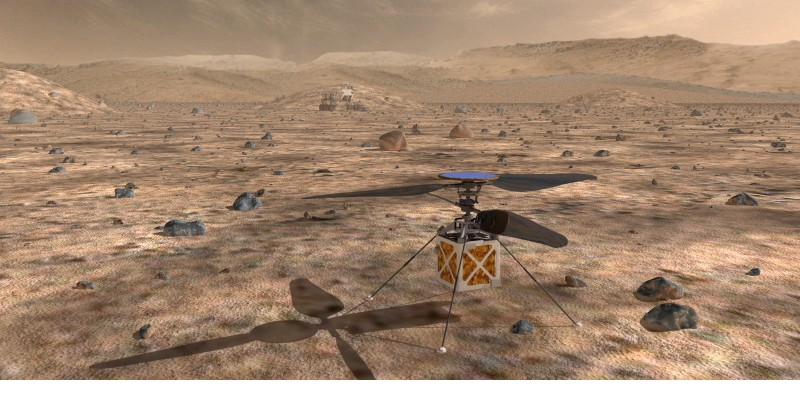 NASA TO SEND HELICOPTER TO MARS TO SEE HOW IT PERFORMS ON THE RED PLANET(VIDEO)