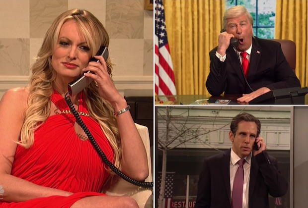 THE DONALD IS NOT GONNA LIKE THIS ONE: STORMY DANIELS MAKES HER NOT-PORN ACTING DEBUT ON SNL (VIDEO)