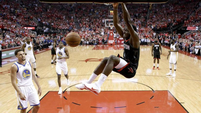 WARRIORS FACE ELIMINATION AFTER DROPPING GAME-5 INHOUSTON