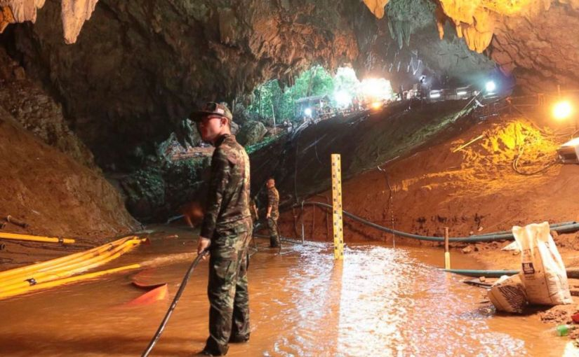 FOUR BOYS FROM SOCCER TEAM TRAPPED IN THAI CAVE FREED