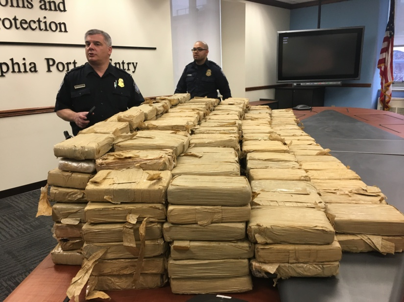 FEDS SEIZE 450 KILOS OF COCAINE AT PORT OFPHILADELPHIA