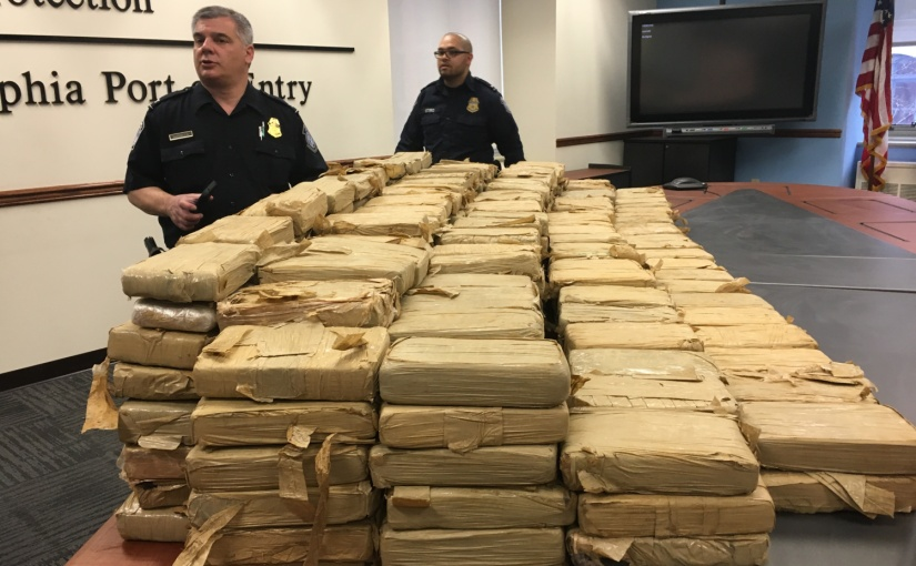 FEDS SEIZE 450 KILOS OF COCAINE AT PORT OF PHILADELPHIA