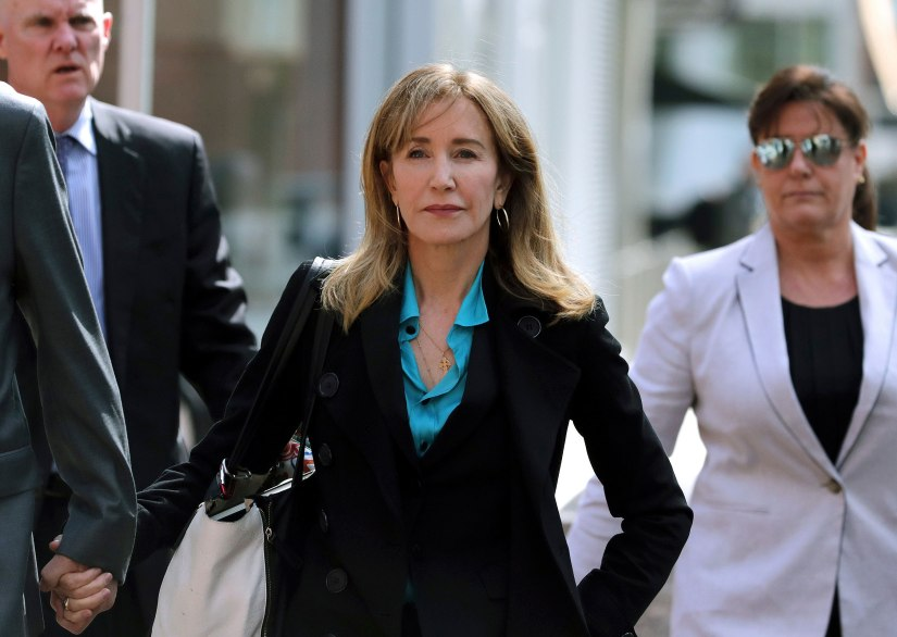 FELICITY HUFFMAN AND 12 OTHERS PLEAD GUILTY IN COLLEGE ADMISSIONSSCANDAL