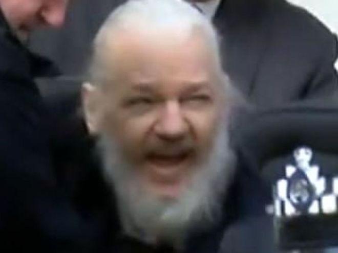 julian assange front