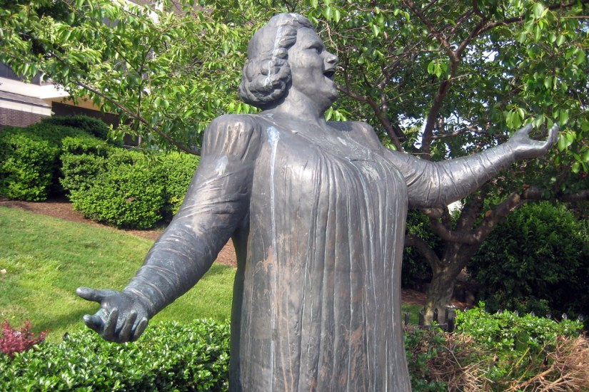 FLYERS COVER KATE SMITH STATUE OVER RACISTLYRICS
